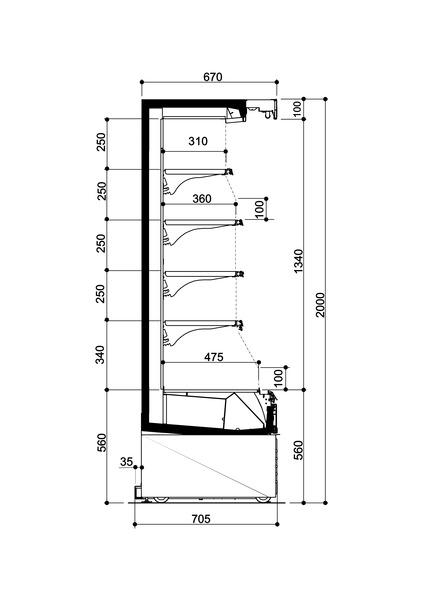 Drawing: Opera Chiller Multi Deck