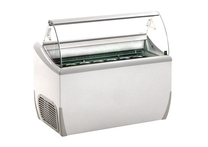 For retail, foodservice or event use, the 7-Tub scoop freezer is the ultimate freezer rental showcase for your ice cream and gelato