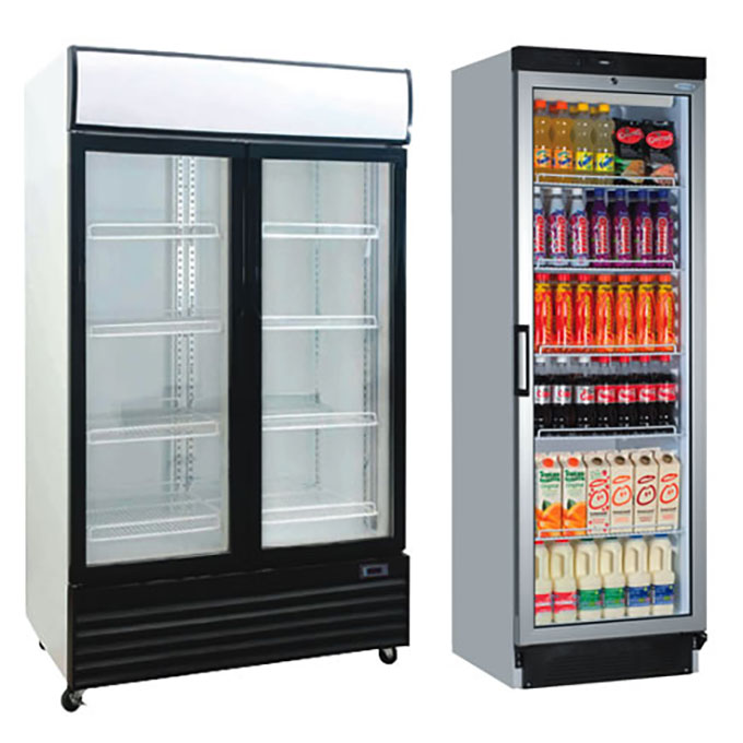 Upright Glass Chillers Display Fridges Cross Rental