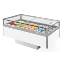 The Festival Dual Temperature Island is one of the most flexible rental options in our range; a unit that can operate as a chillerora freezer