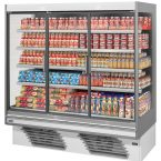 The Sipario Green multi deck chiller is a high-class display fridge rental option; ideal for grocery and grab-and-go retailers alike
