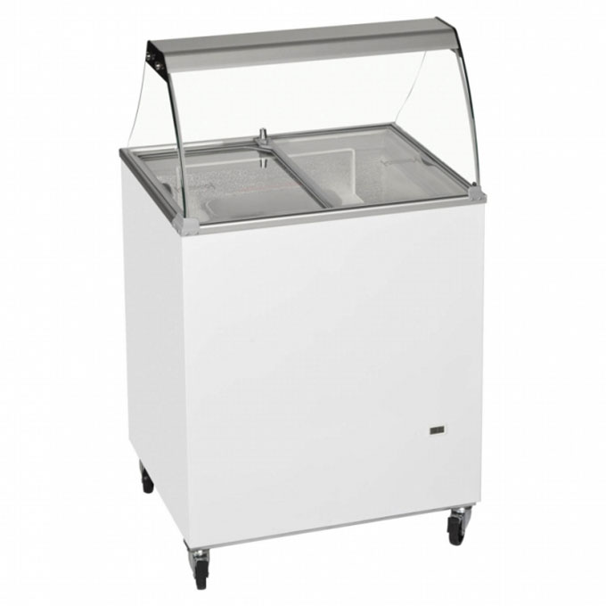 The 4-Tub Scoop Freezer from Tefcold is the ideal freezer rental option if you want to add scooping ice cream sales to your business