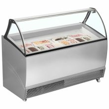 If you are looking for a 10- or 13-pan ice cream display case, the ISA Bermuda Soft Scoop Display range is the smart rental solution