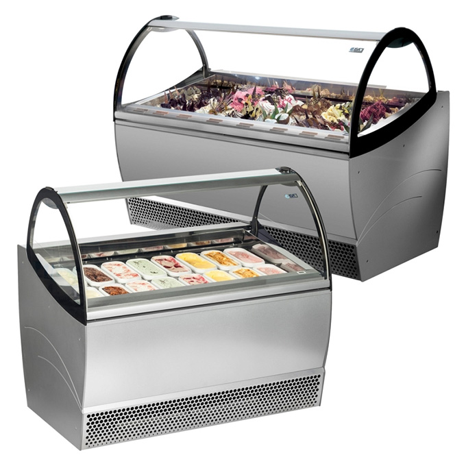The ISA Millennium Soft Scoop Display range provides an impeccable rental solution for professional ice cream and gelato retailers