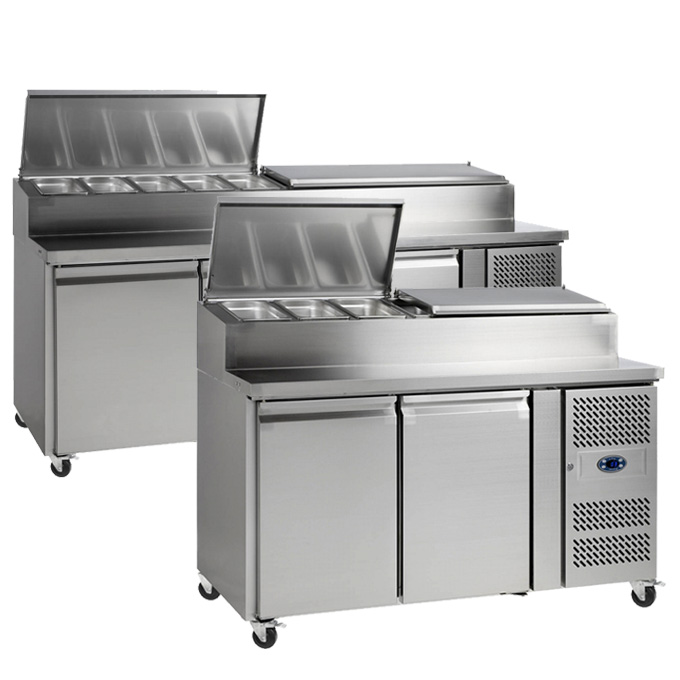 Our stainless steel sandwich prep counter range offers a flexible rental solution for your foodservice business or live event stand