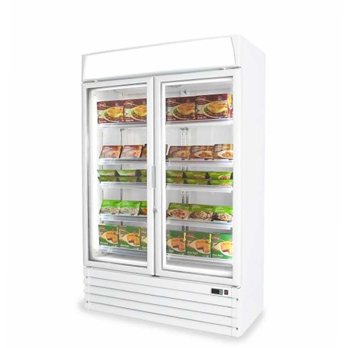 The Pegasus Upright Glass Freezer – available as either a one-door or two-door model – is an outstanding display freezer hire option