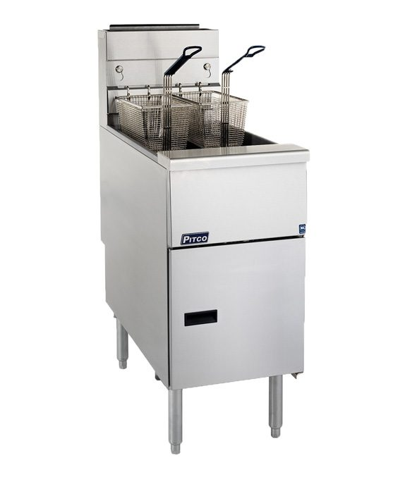 Pitco S Range SG14 Gas Fryer with baskets