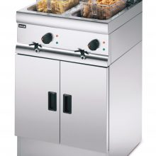 Lincat J12 Free Standing Twin Tank Fryer with chips