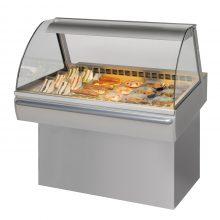 Fri Jado Curved Glass Cold Deli Counter - 3 Pan